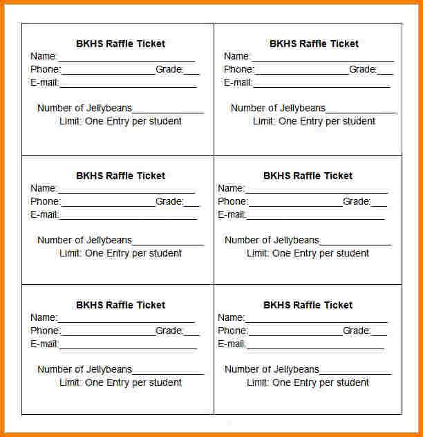 blank raffle tickets printable - Clip Art Library - blank raffle tickets printable