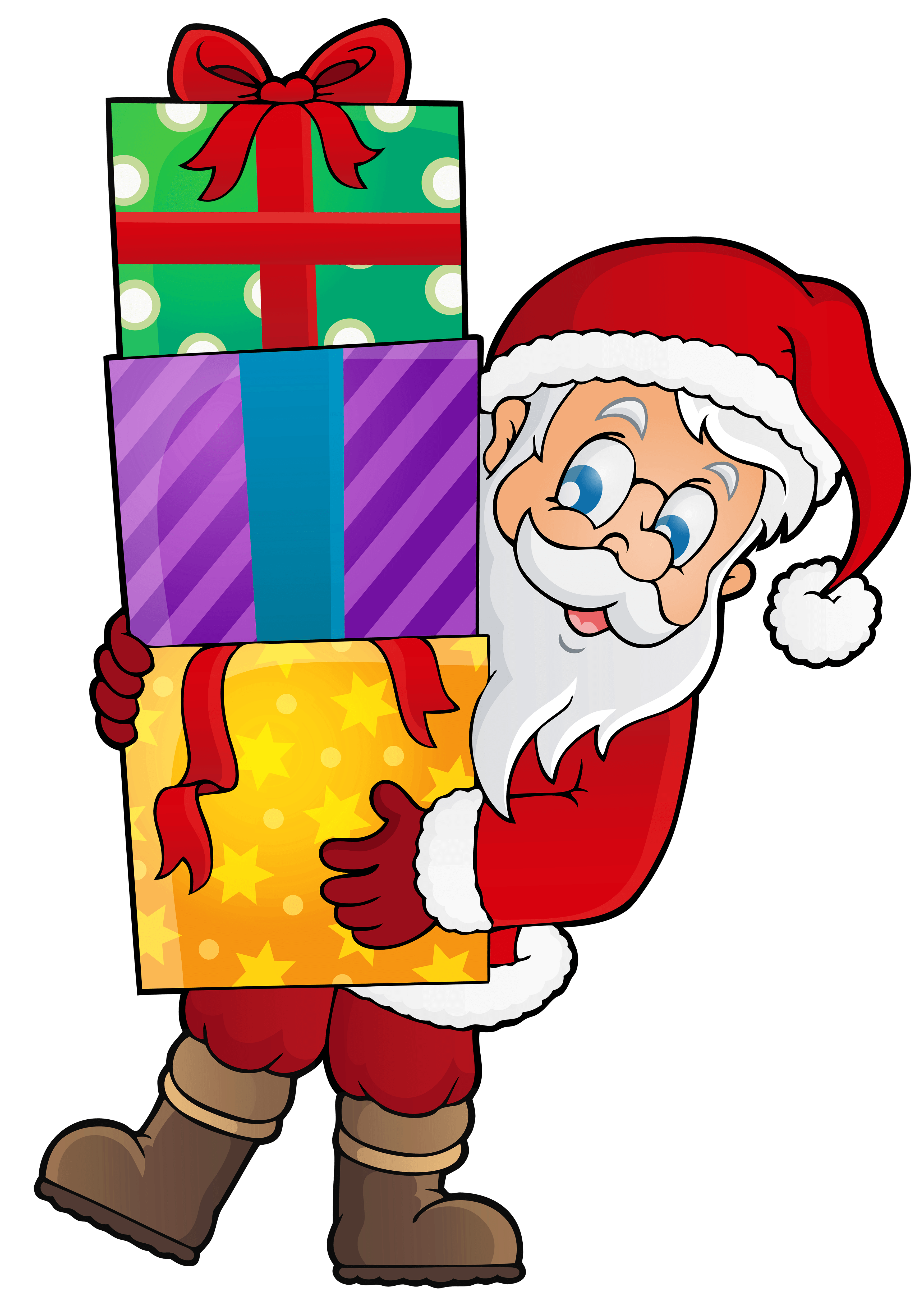 Christmas Tree With Santa Clip Art Transparent