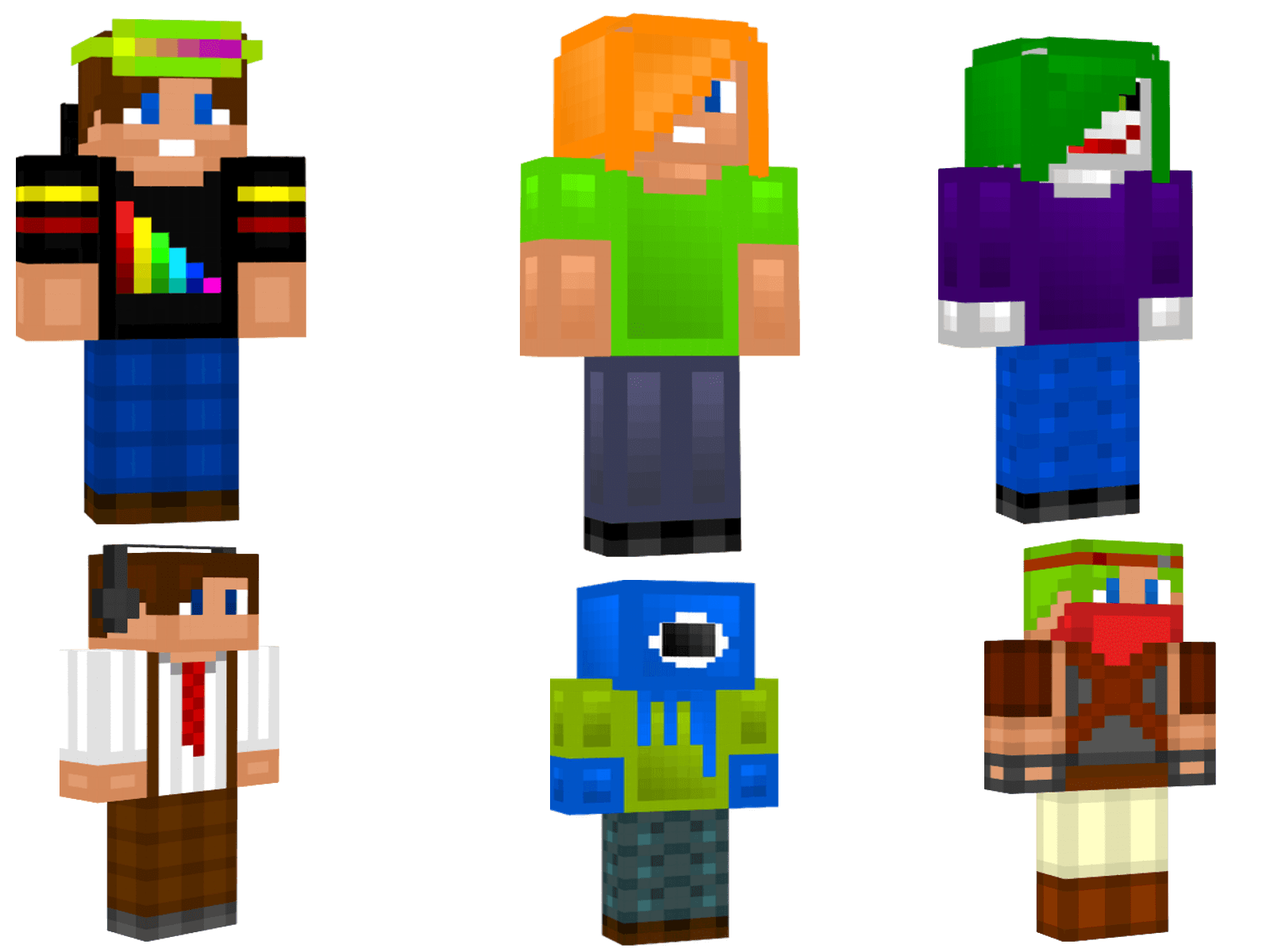 Minecraft Characters Faces Minecraft