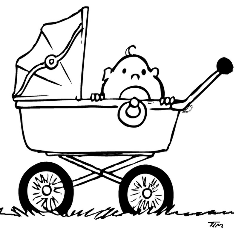 Baby Stroller Clipart Black And White Free Pram Pictures Download Free Clip Art Free Clip Art