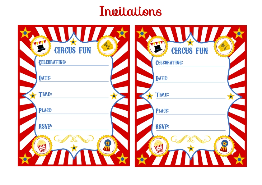 Free Carnival Ticket Invitation Template, Download Free Clip Art