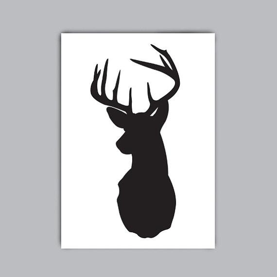 Free Deer Head Silhouette, Download Free Clip Art, Free Clip Art on
