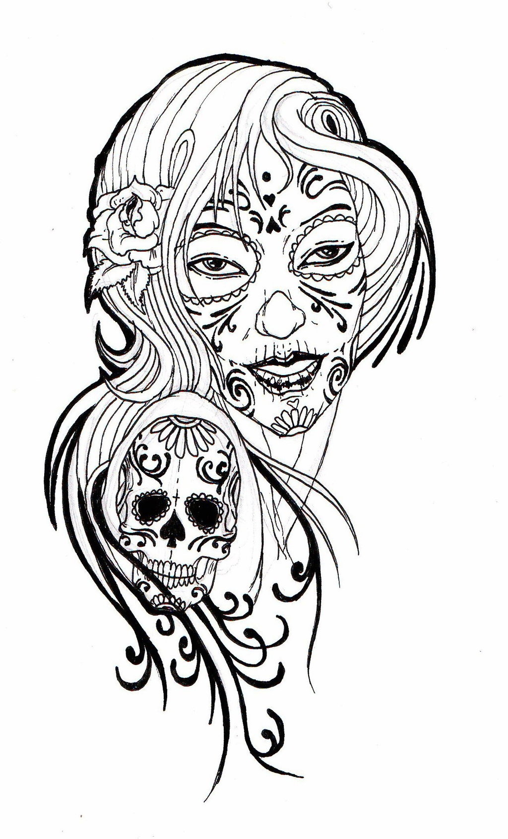 Free skull tattoo designs to print clipart library