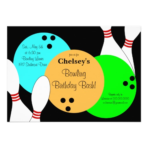 Free Bowling Party Invitation Template, Download Free Clip Art, Free - bowling invitation