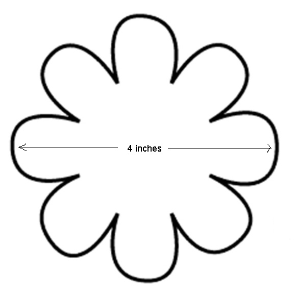 Free 8 Petal Flower Template, Download Free Clip Art, Free Clip Art - 6 inch circle template