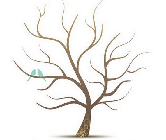 Free Printable Tree Template - AZ Coloring Pages - Clip Art Library