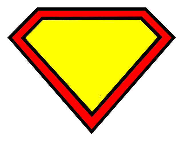 Free Superman Outline, Download Free Clip Art, Free Clip Art on