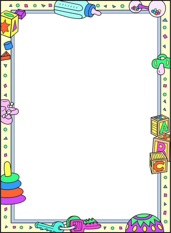 Baby Shower Border Clip Art Free Printable Baby Borders And