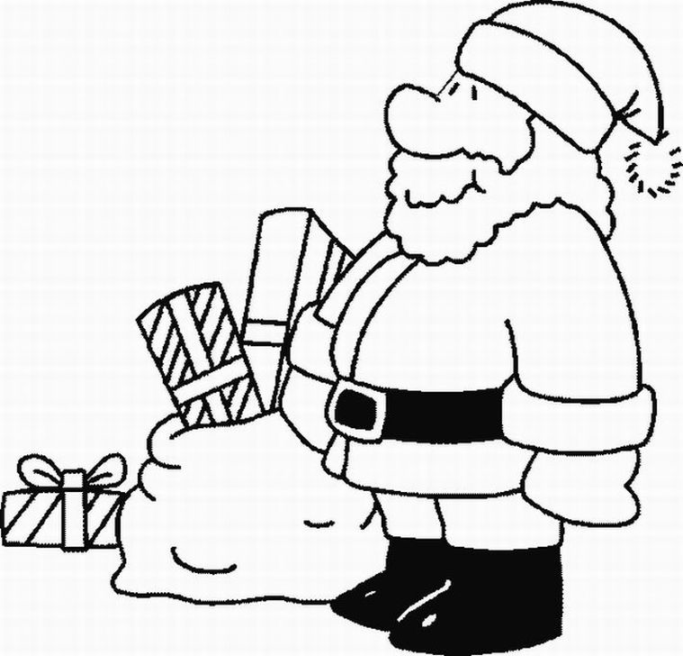 Free Father Christmas Pictures To Colour, Download Free Clip Art