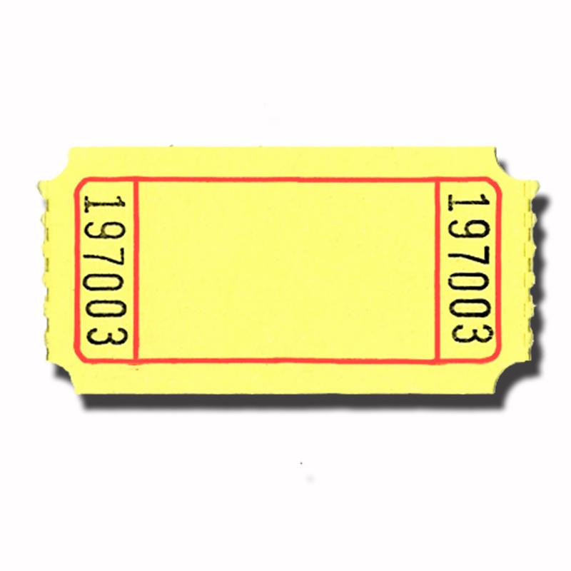 blank ticket stub