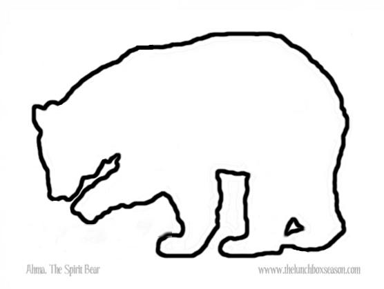black bear outline printable THE LUNCHBOX SEASON - Clip Art Library