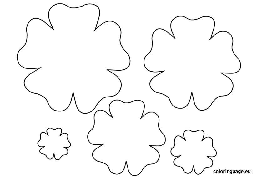 Flower template printable Coloring Page - Clip Art Library