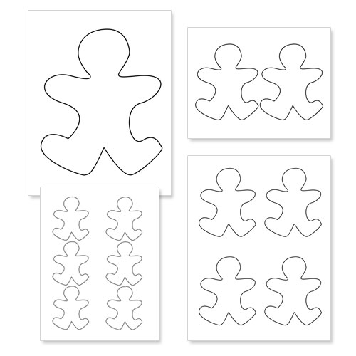 Gingerbread Man Template With Bow - Clipart library - Clip Art Library - gingerbread man template