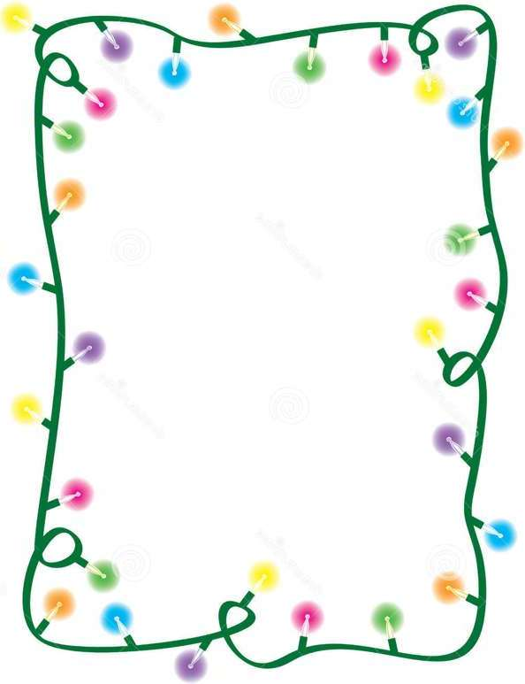 Free Christmas Lights Border, Download Free Clip Art, Free Clip Art