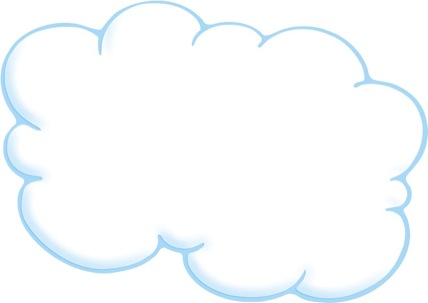 Free Printable Clouds Coloring Pages, cloud shapes coloring pages