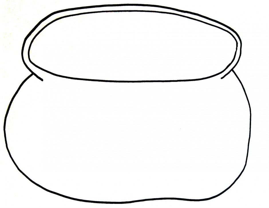 Empty Pot Of Gold Coloring Page Coloring Pages