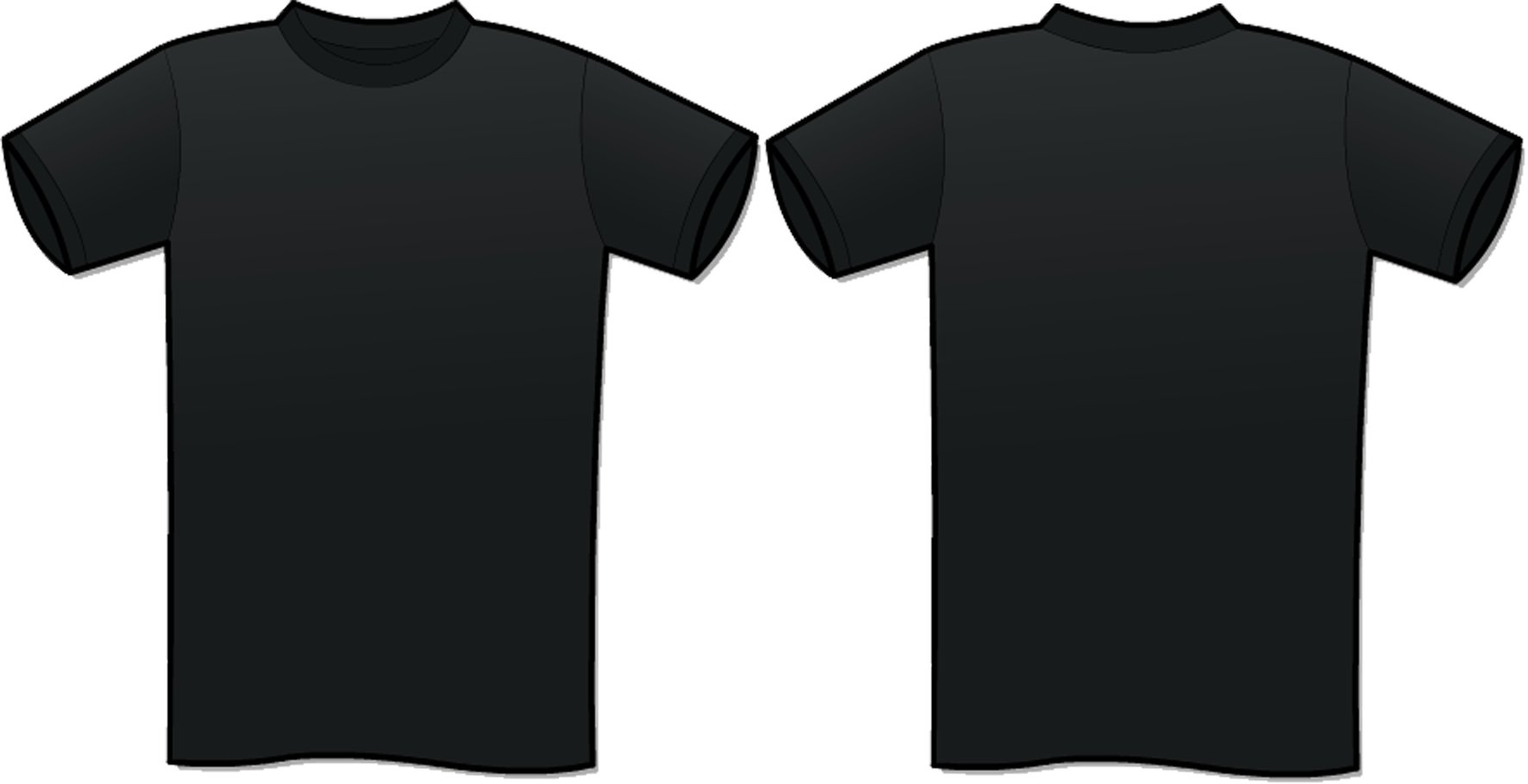 Black t shirt blank template - Download