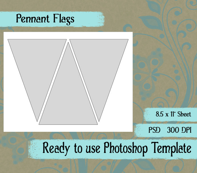 Popular items for flag template on Etsy - Clip Art Library - Etsy Banner Template