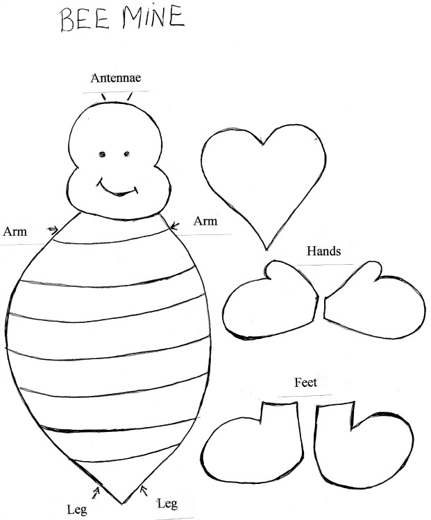 Free Bee Template, Download Free Clip Art, Free Clip Art on Clipart