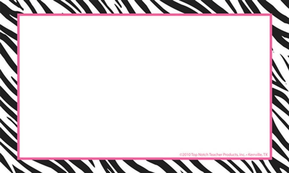 Free Zebra Print Border Template, Download Free Clip Art, Free Clip - free paper templates with borders