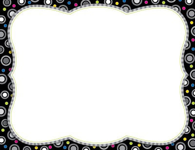Black And White Polka Dot Border 2 Wallpapers and Background