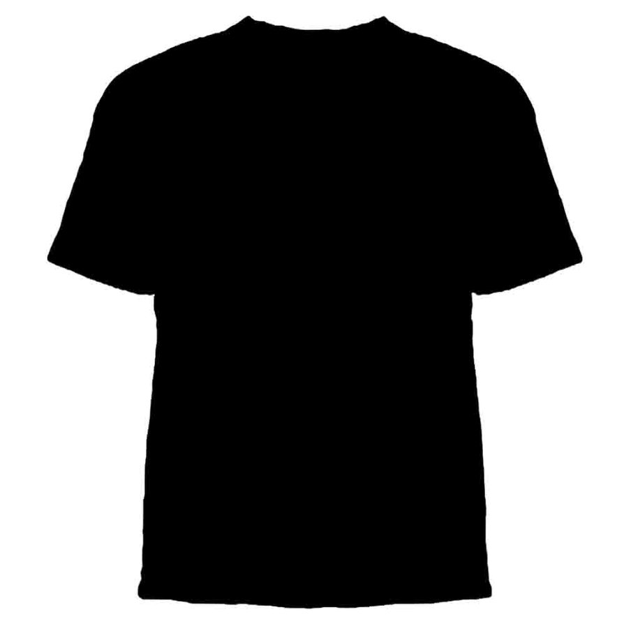 T shirt white psd - Black T Shirt Psd Template 1
