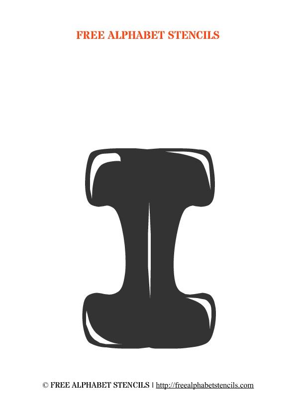 Bubble Letter Alphabet Stencils FreeAlphabetStencils - Clip