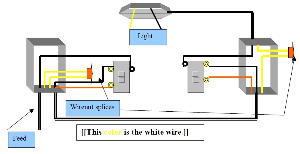 3 Way Switch Diagrams Troubleshooting - Clip Art Library