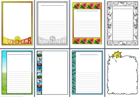 Free Printable Borders - Full Page Designs - Clip Art Library