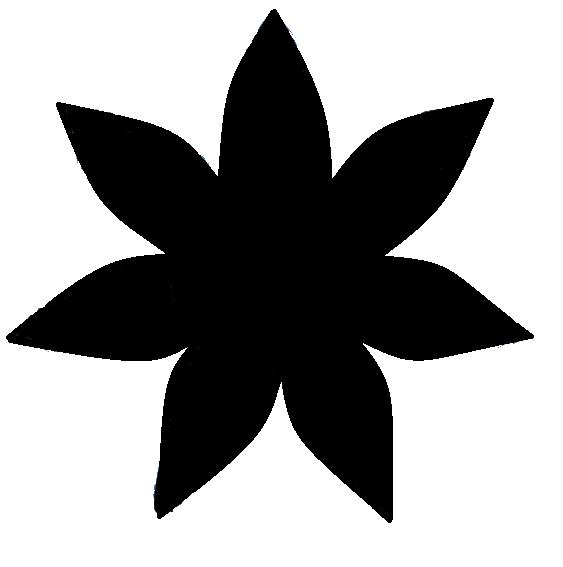 Free 8 Petal Flower Template, Download Free Clip Art, Free Clip Art - flower template
