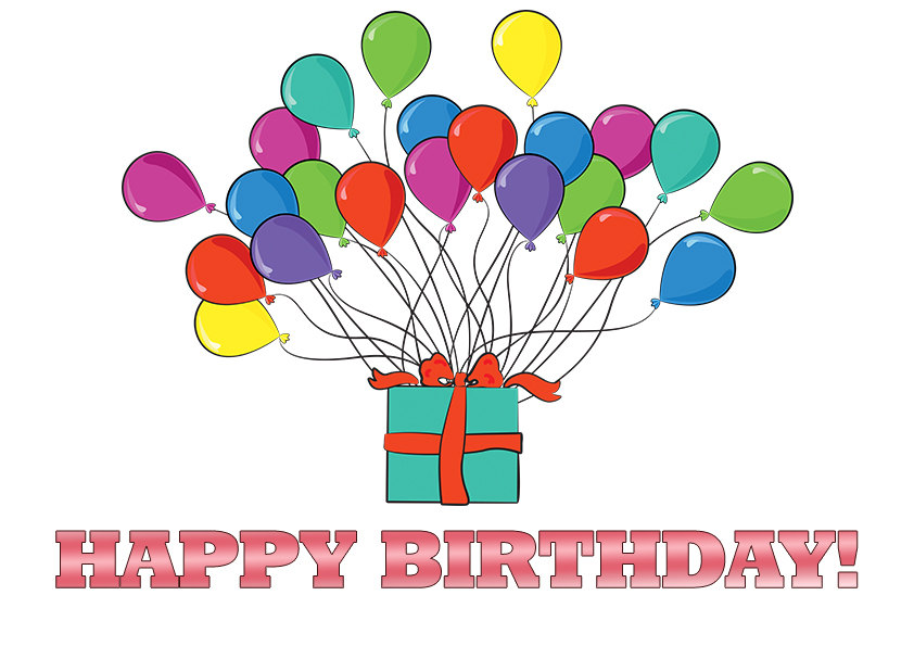happy-birthday-balloons-with- - Clip Art Library