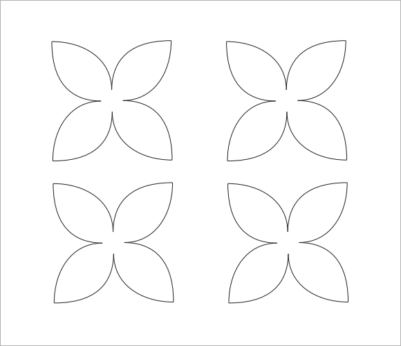 Free Eight Petal Flower Template, Download Free Clip Art, Free Clip