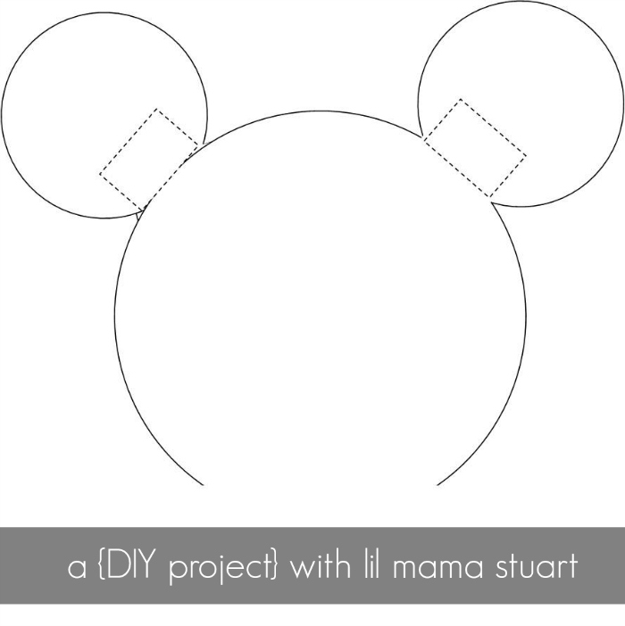 Free Mickey Mouse Ears Template Headband, Download Free Clip Art