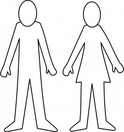 Female Body Outline Template - Clipart library - Clip Art Library