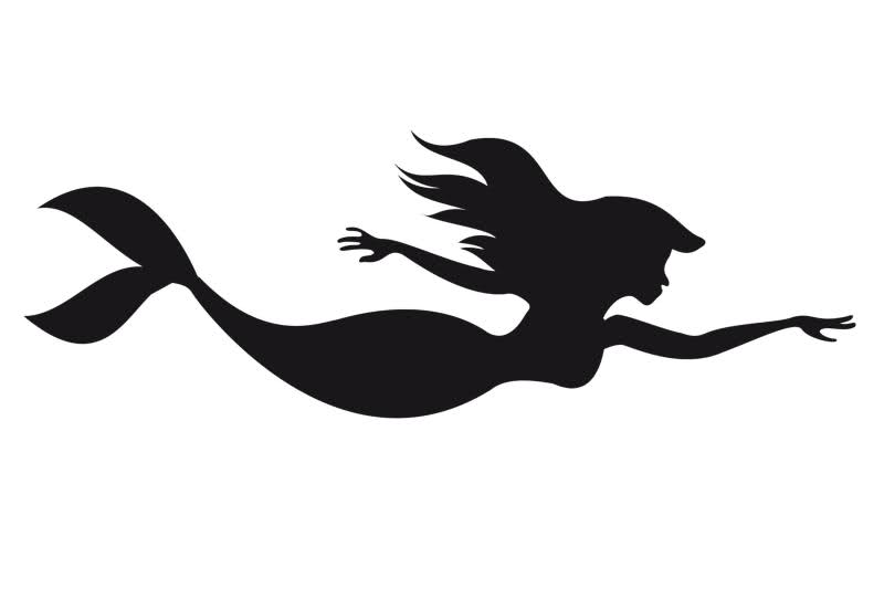 Free Little Mermaid Silhouette, Download Free Clip Art, Free Clip