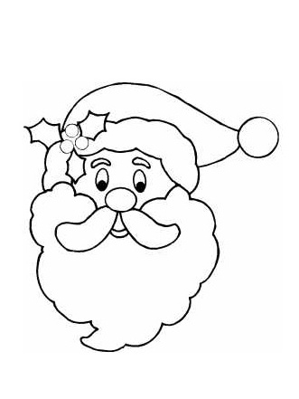 Free Santa Claus Outline, Download Free Clip Art, Free Clip Art on