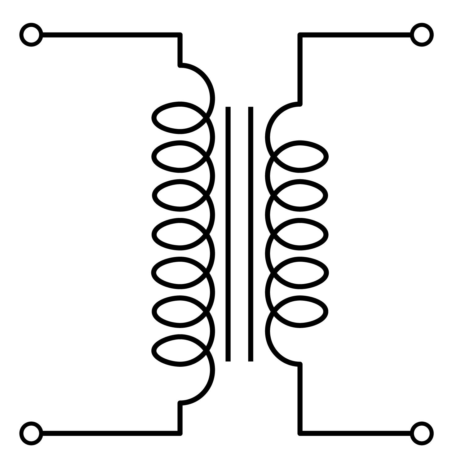 circuit diagram transformer symbol