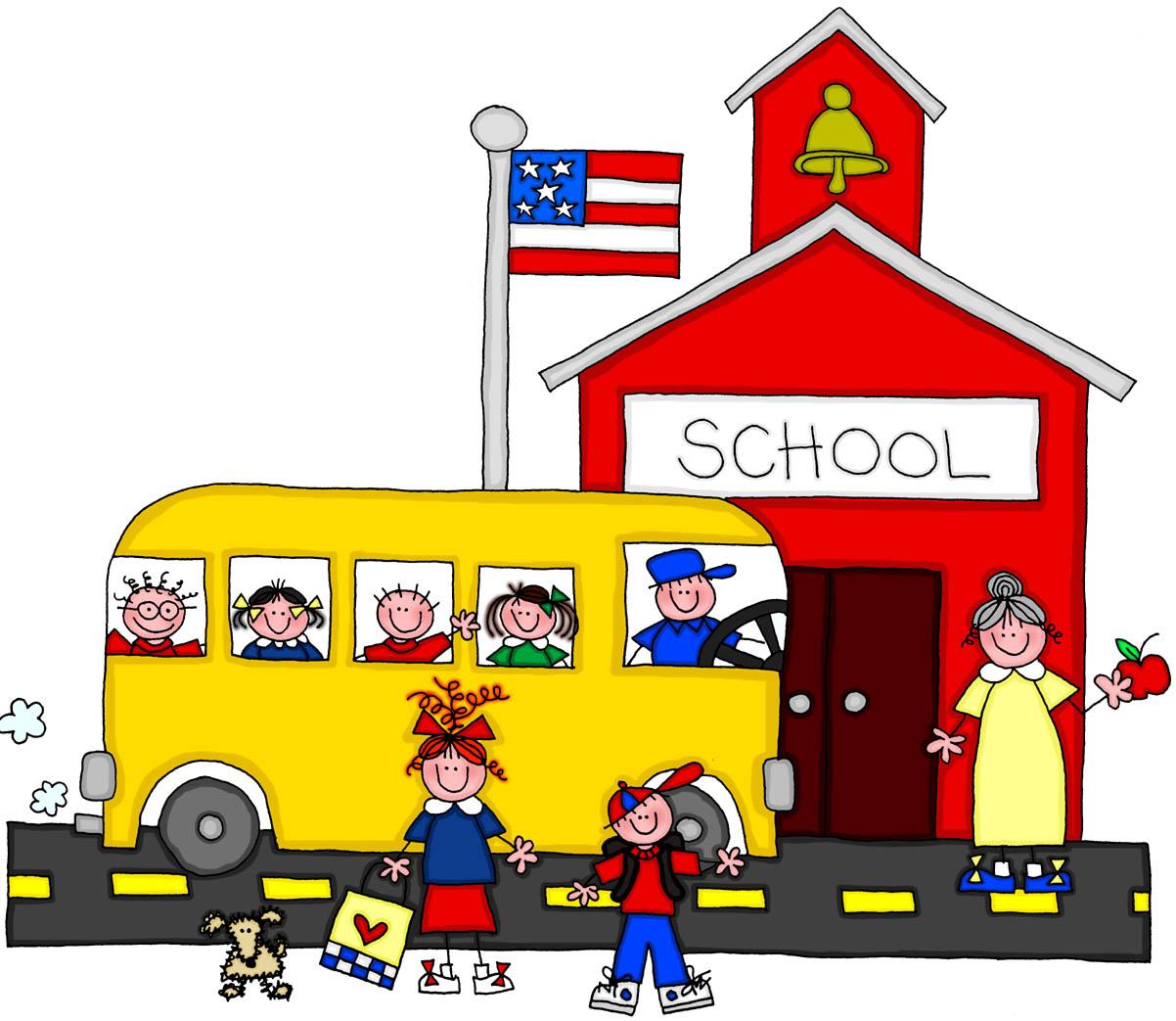 Fall Schoolhouse Wallpaper Free Cartoon School Building Download Free Clip Art Free