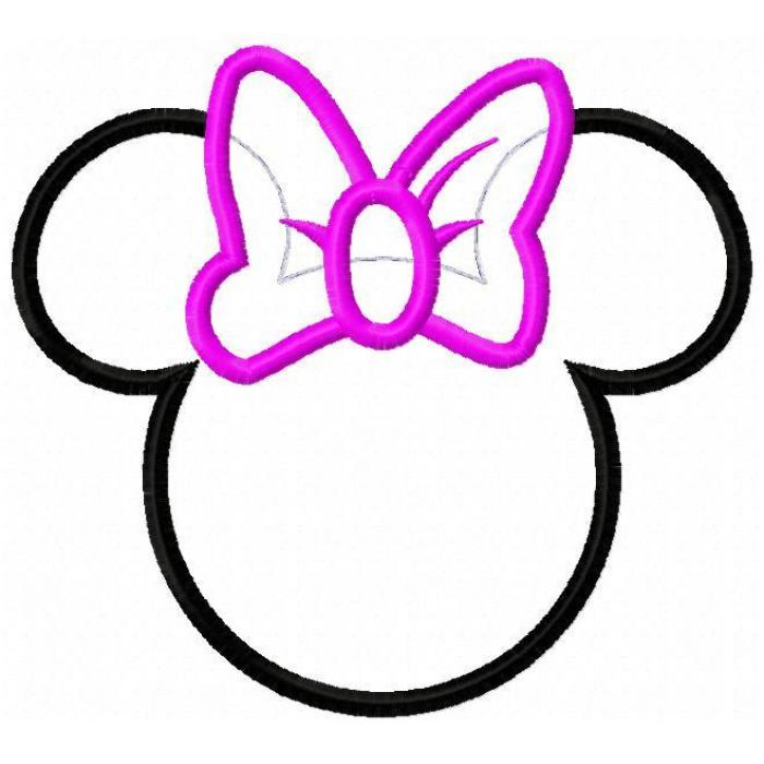 Free Minnie Mouse Bow Outline, Download Free Clip Art, Free Clip Art