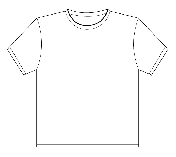 Free T Shirt Outline Template, Download Free Clip Art, Free Clip Art - blank outline template