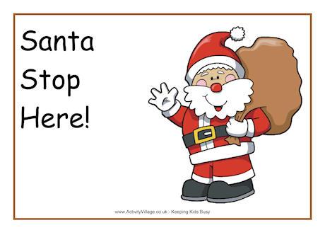 Santa Claus Printables - Clip Art Library