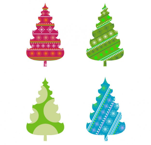 abstract christmas tree vector graphics Vector Free Download