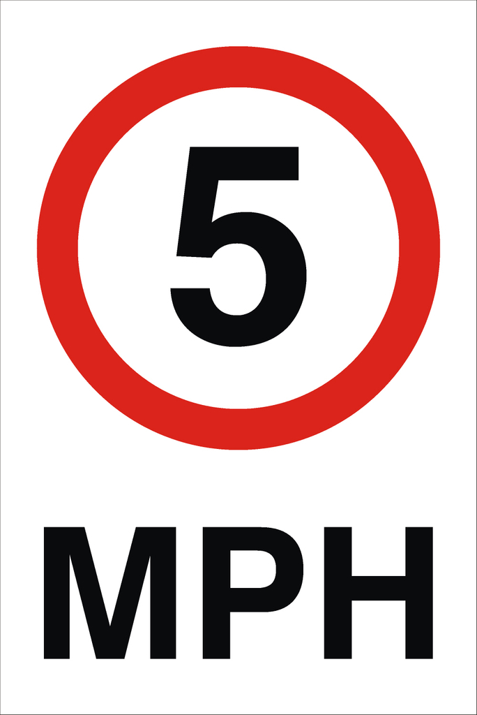 5 MPH Sign Raymac Signs - Clip Art Library