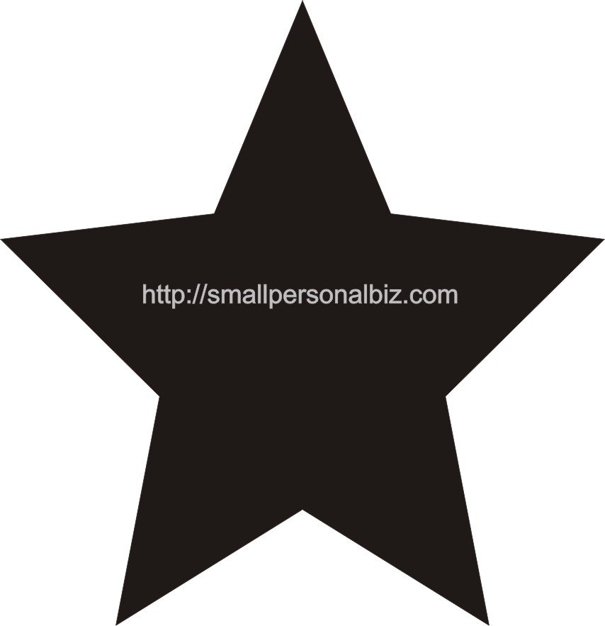 Free 5 Points Pattern Printable Star Template for Stencil with - star template