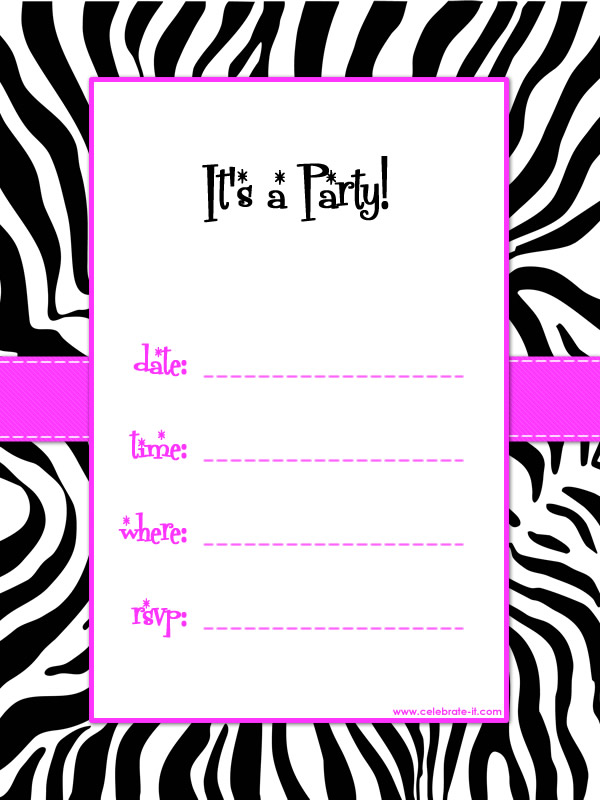 Party Invitation Templates ABC Party Ideas For Girls - Clip Art