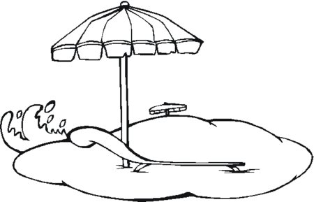 Free Beach Umbrella Coloring Page Download Free Clip Art