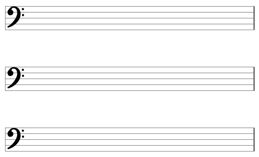 Music Paper Template music stave template, blank stave note paper - music staff paper template