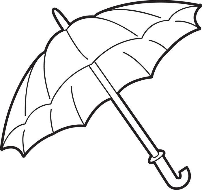 Free Beach Umbrella Coloring Page, Download Free Clip Art, Free Clip