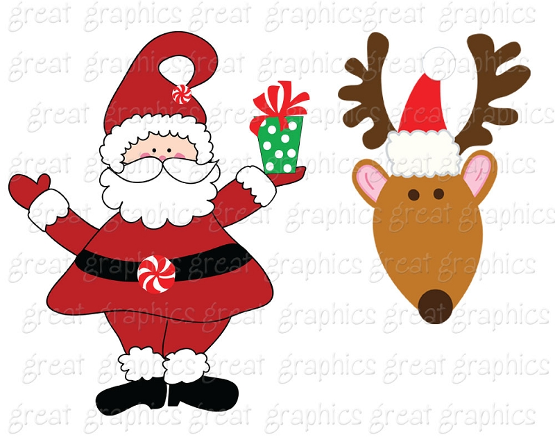Free Santas Reindeer Pictures, Download Free Clip Art, Free Clip Art
