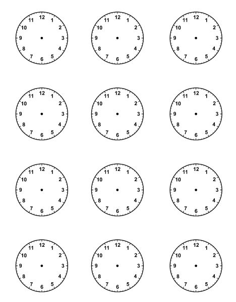 Best 25+ Blank clock ideas on Pinterest Learn to tell time - printable time sheet